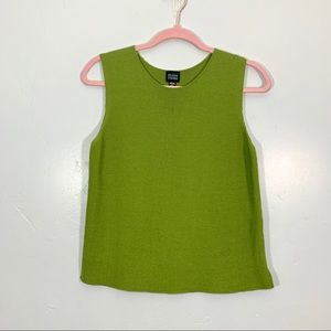 Eileen Fisher | Green Italian Yarn Wool Camisole